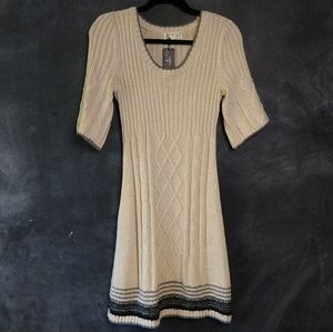 PINK ROSE | Cable Knit Ribbed Sweater Dress Size M
